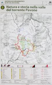 Cartello con la cartina della zona
