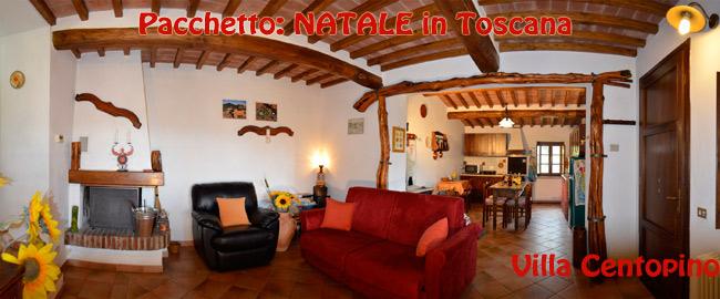 Paesaggio Toscano villa con camino e jacuzzi