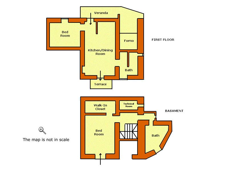 Le stanze della Villa Podere le Capanne in Toscana, cliccare sullimmagine per ingrandirla