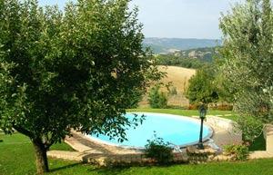 Villa centopino in agosto con piscina