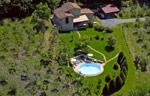 aerial image of Tuscany Villa Centopino